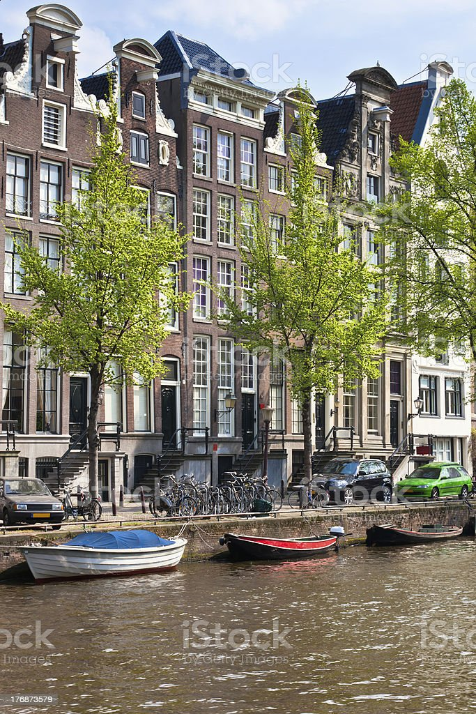Amsterdam canals view royalty-free stock photo