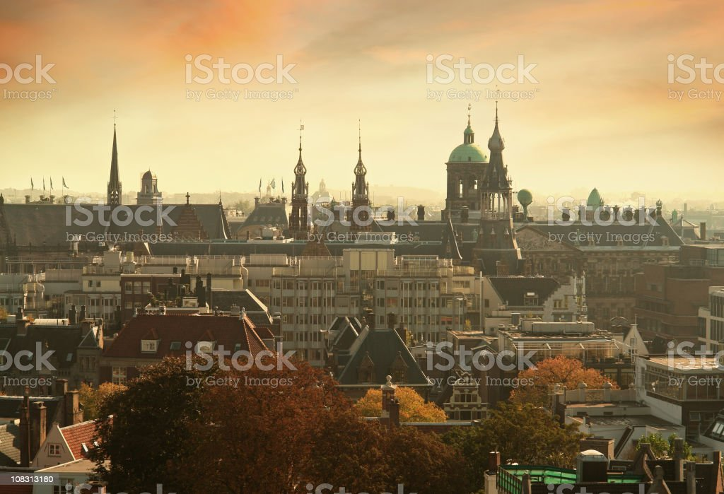 Amsterdam, Capital of the Netherlands stock photo