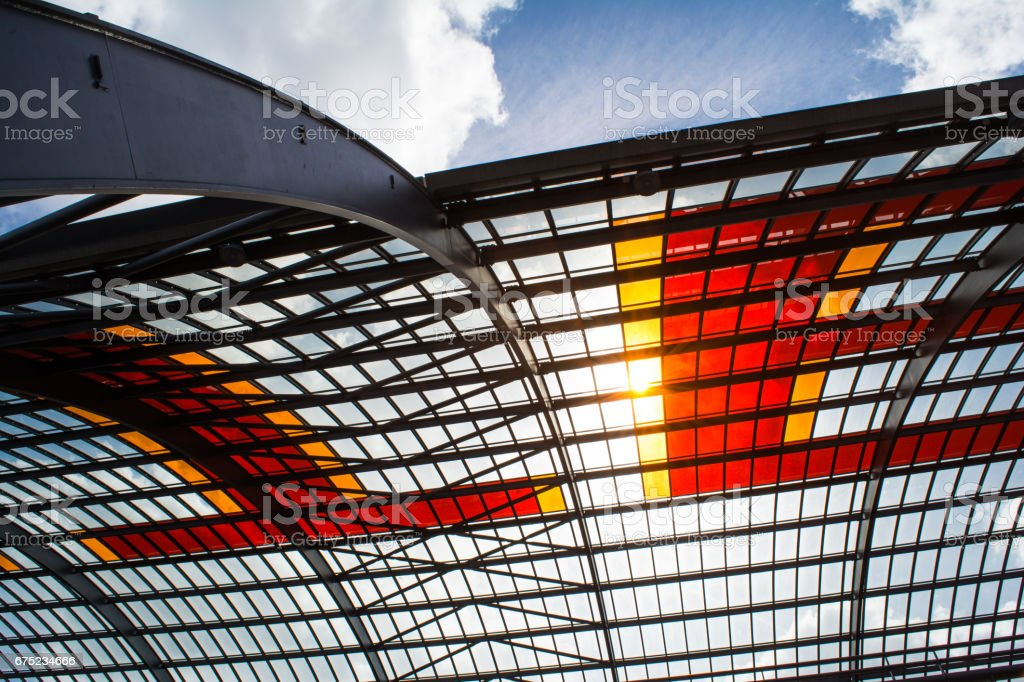 Amsterdam Centraal station roof detail royalty-free stock photo