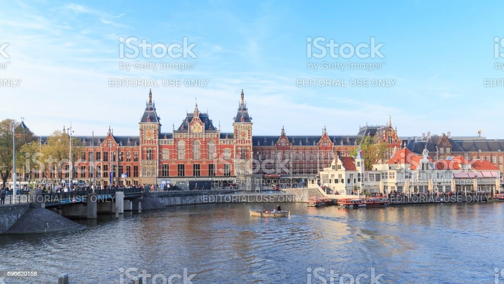 Amsterdam central station, front view stock photo