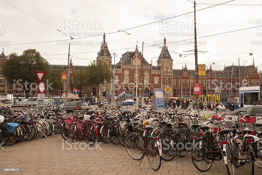 Amsterdam Central Station royalty-free stock photo
