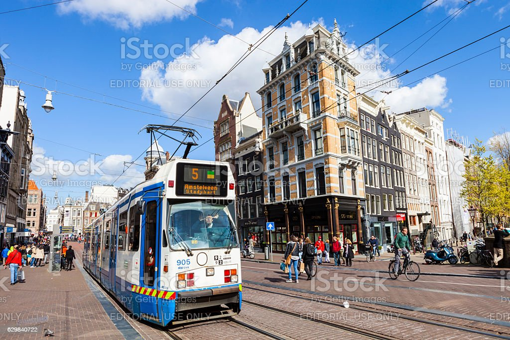 Amsterdam city center,Netherlands stock photo