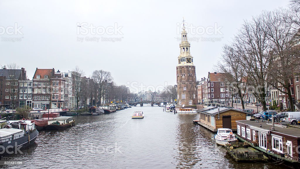 Amsterdam city centre in day time stock photo