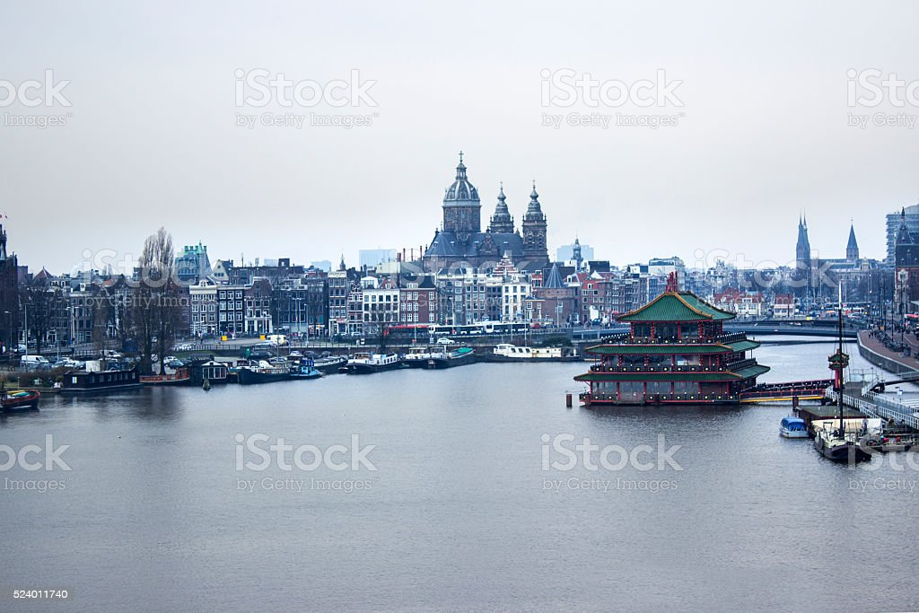 Amsterdam city centre in day time foto