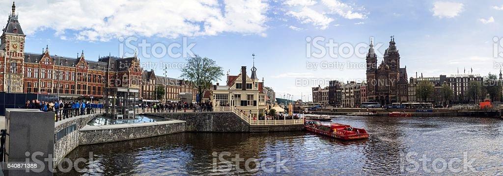 Amsterdam City High-Resolution Panorama stock photo