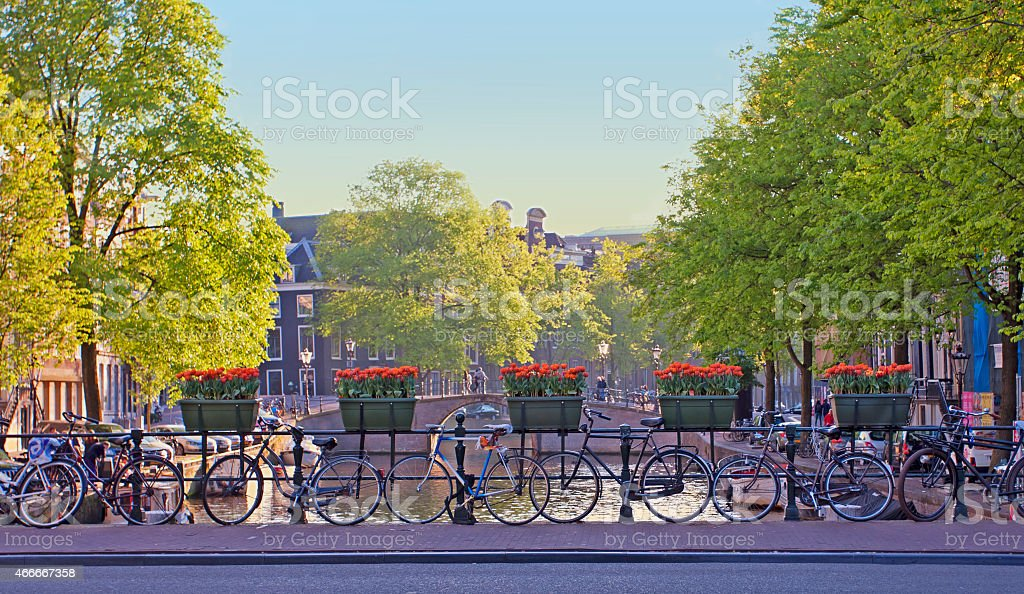 Amsterdam city landscape - Royalty-free 2015 Stock Photo