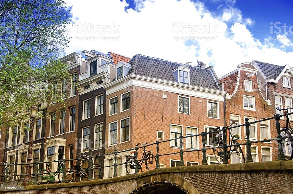 Amsterdam City Scene royalty-free stock photo