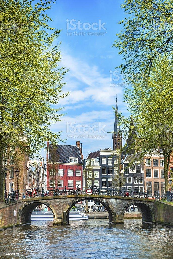 Amsterdam City Scene Water Canal foto