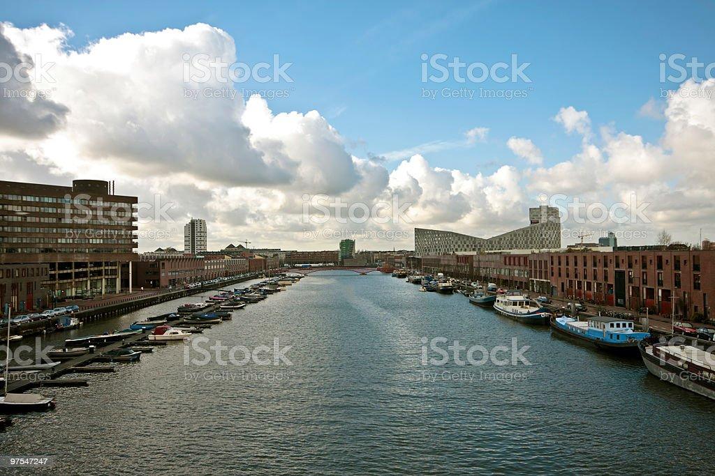En centre-ville d'Amsterdam, aux Pays-Bas photo libre de droits