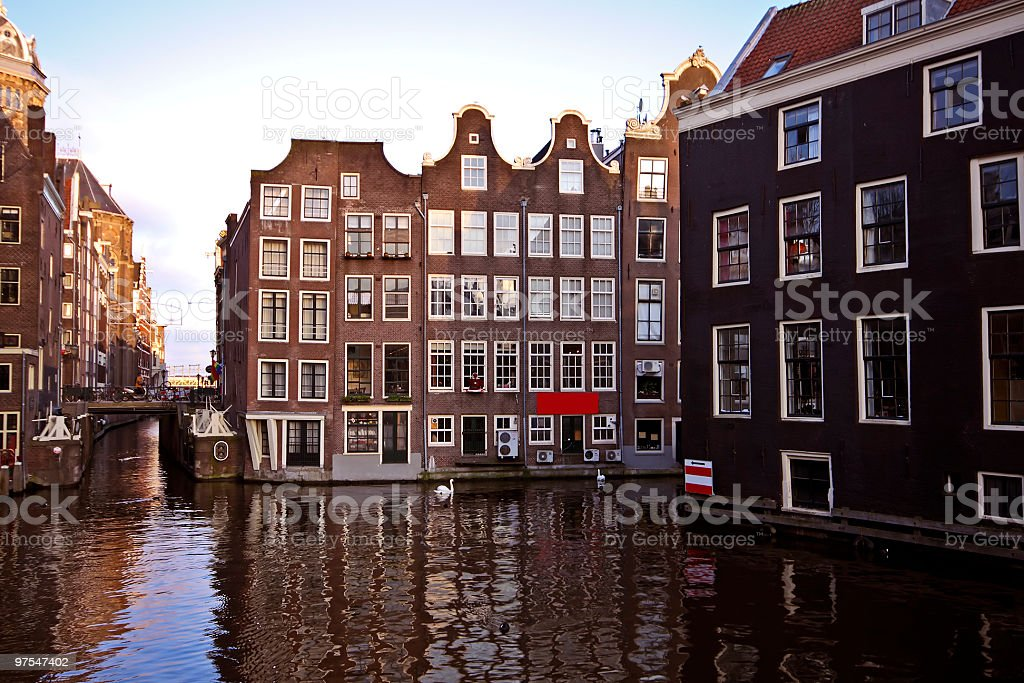 Amsterdam citycenter in the Netherlands royalty-free stock photo