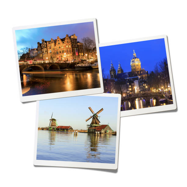 Amsterdam Collage (Clipping Path) Amsterdam Collage , Isolated on white background. photography stock pictures, royalty-free photos & images