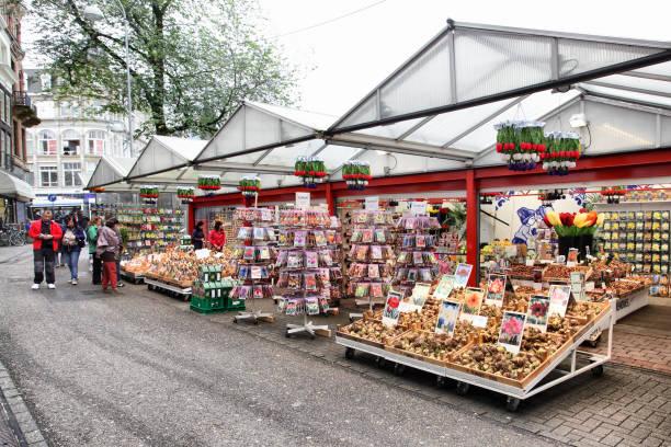 Amsterdam flower market stock photo