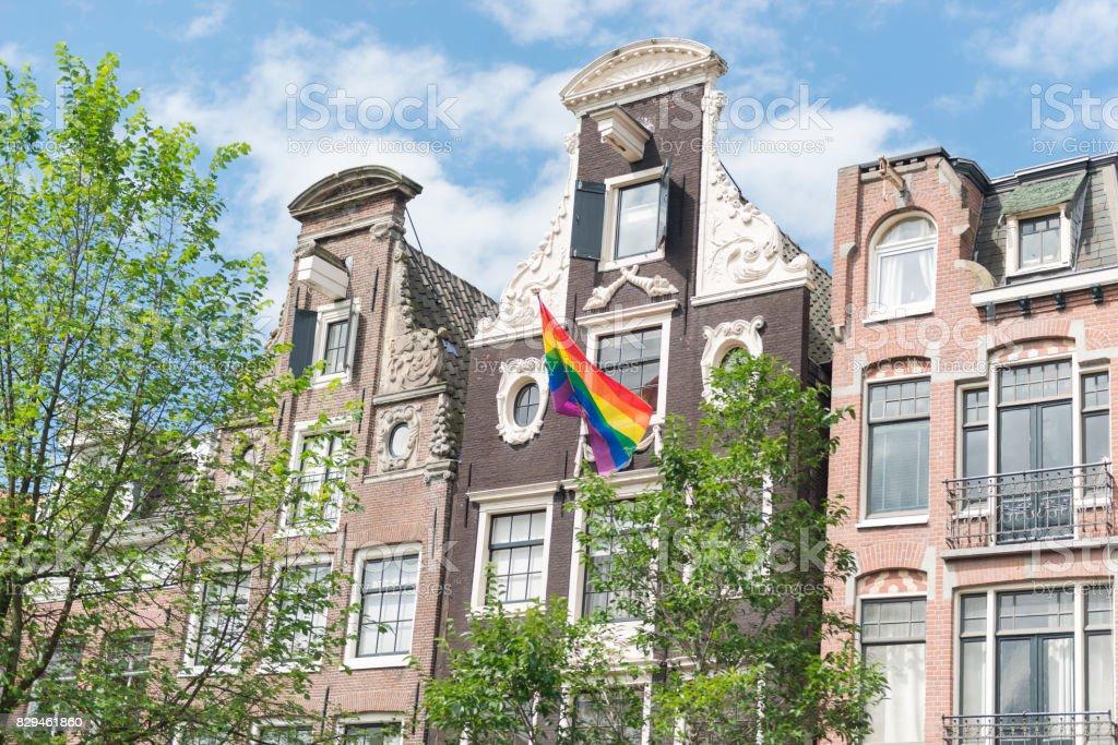 Amsterdam Gay Capital stock photo