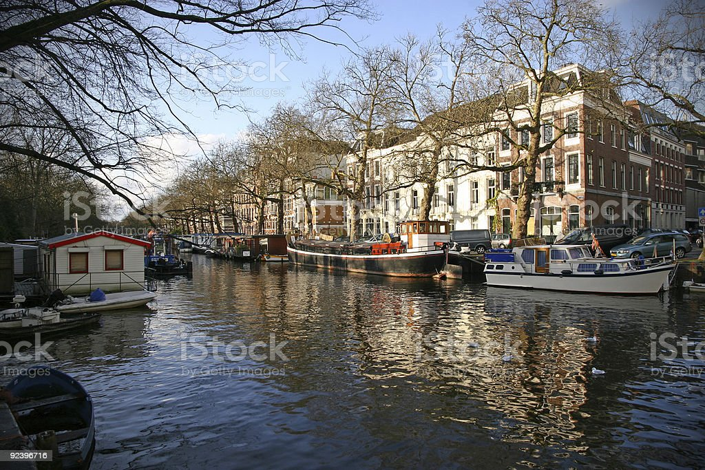 Amsterdam gracht royalty-free stock photo