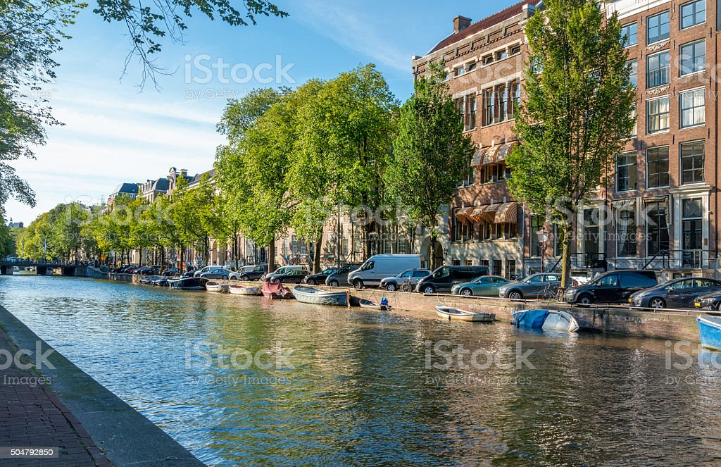 Amsterdam, Herengracht in springtime stock photo