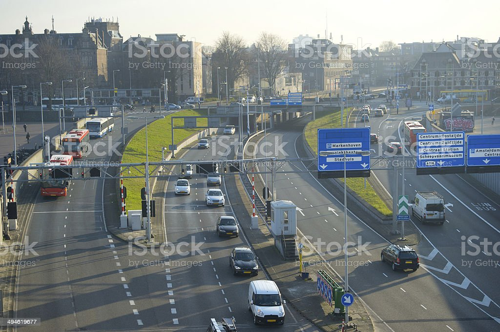 Amsterdam highway royalty-free stock photo