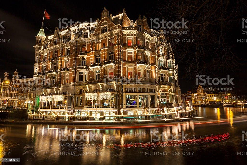Amsterdam, Hotel De l'Europe stock photo