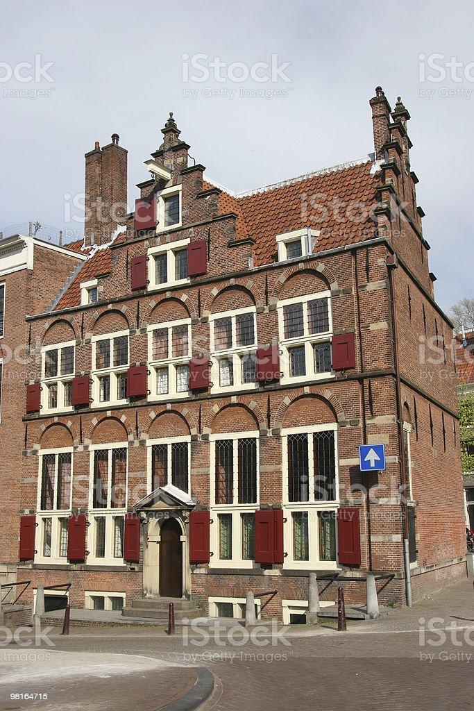amsterdam-casa di un de drie grachten foto stock royalty-free