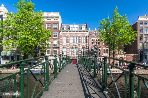 Amstel River, Amsterdam, Europe, Netherlands, North Holland