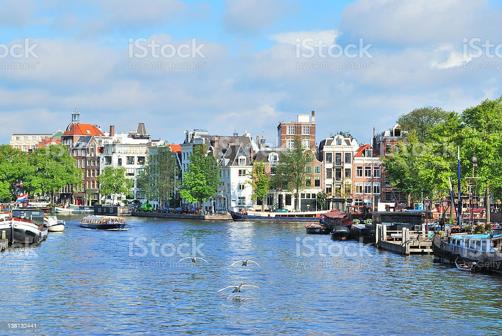 Amsterdam in  a sunny summer day royalty-free stock photo