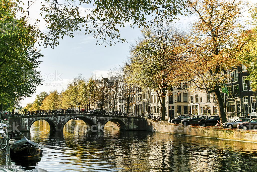 Amsterdam in Autumn stock photo