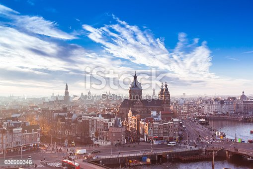 istock Amsterdam landmark 636969346