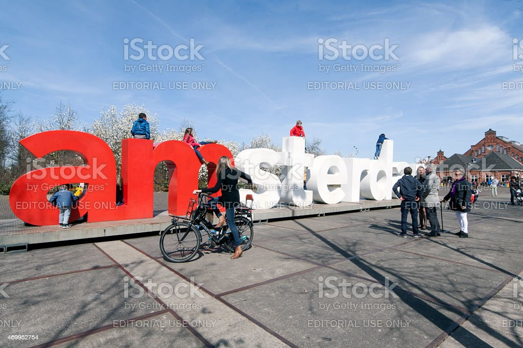 I amsterdam letters in Westerpark stock photo