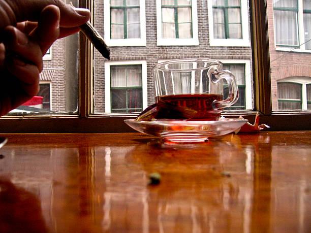 Amsterdam Marijuana stock photo