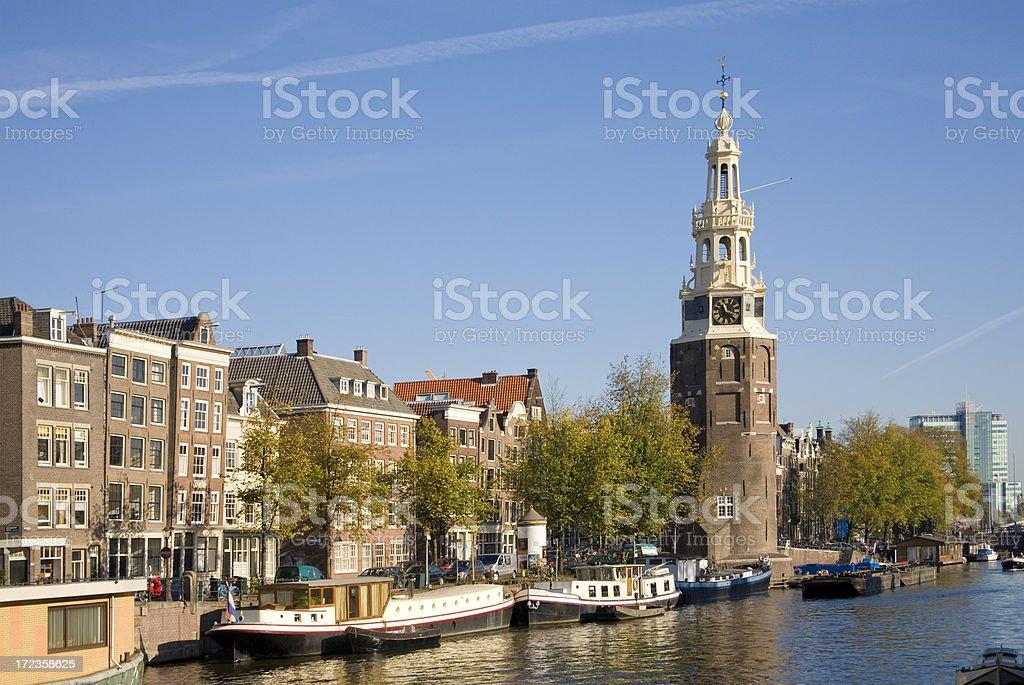 Amsterdam: Munttoren (tower)  in Centrum royalty-free stock photo