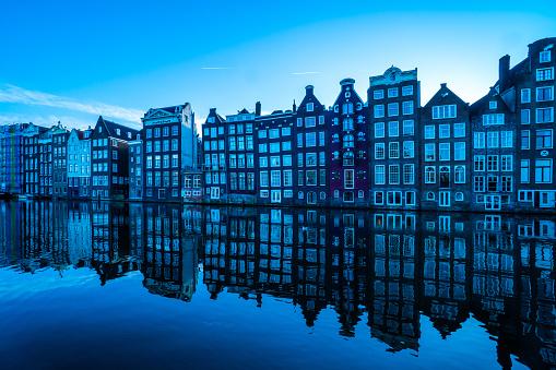 Amstel River, Amsterdam, Europe, Netherlands, River