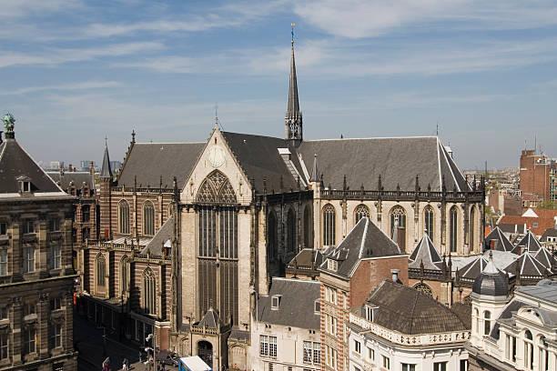 amsterdam new church - westerkerk stockfoto's en -beelden