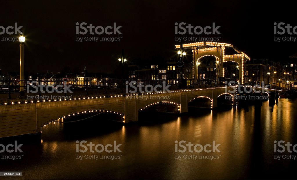 Amsterdam night 2 royalty-free stock photo