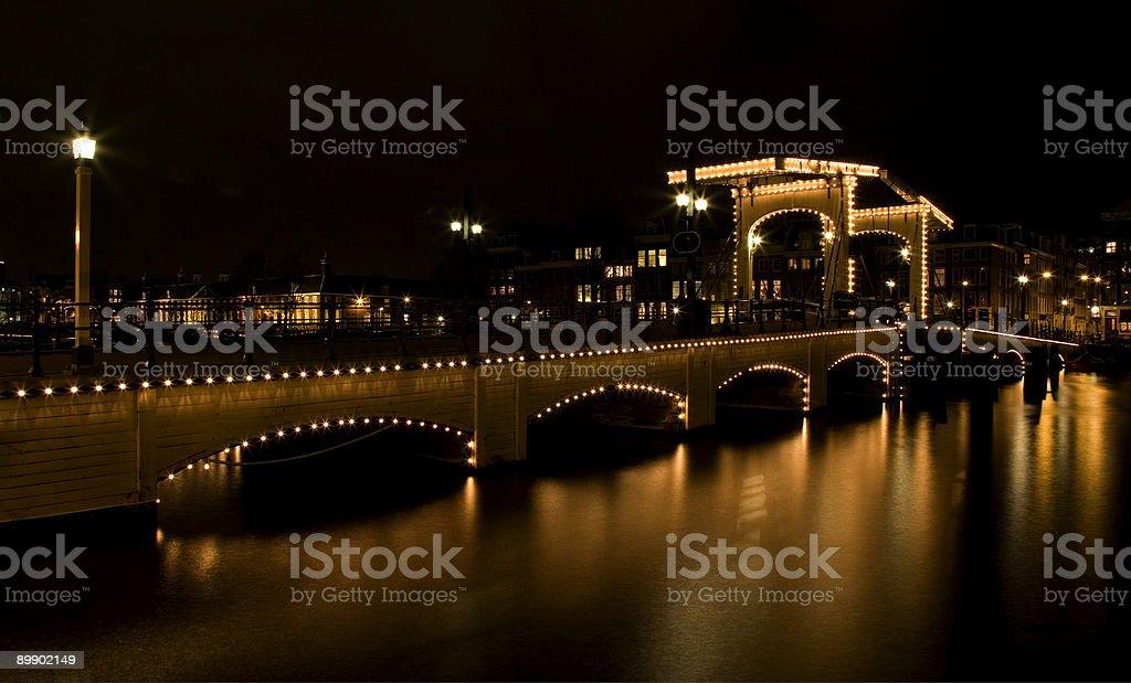 Amsterdam night 2 royalty free stockfoto