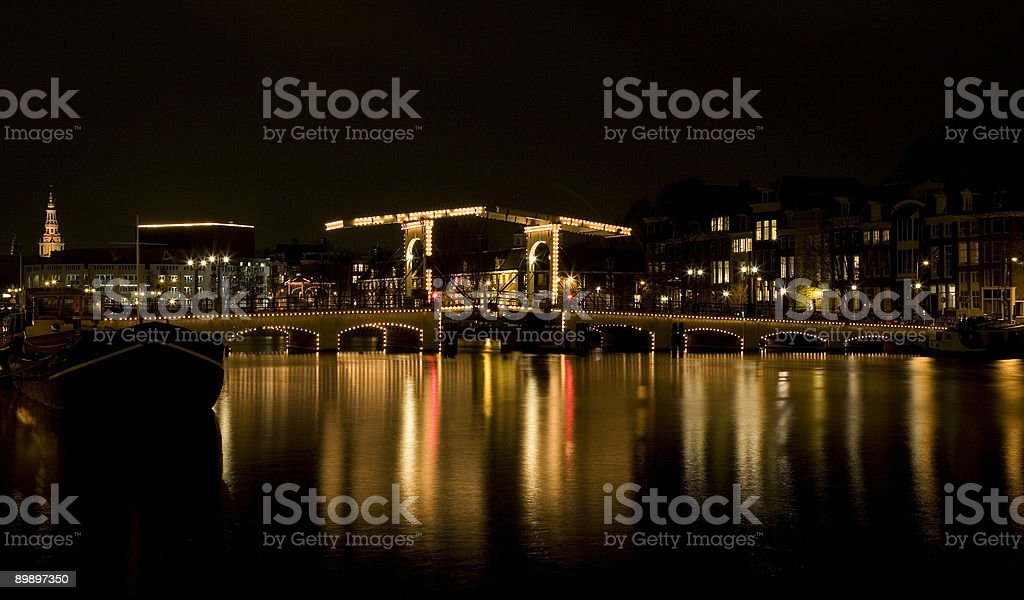 Amsterdam night 4 royalty-free stock photo