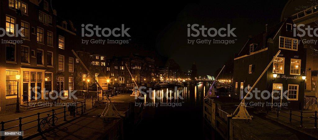 Amsterdam Nacht 7 Lizenzfreies stock-foto