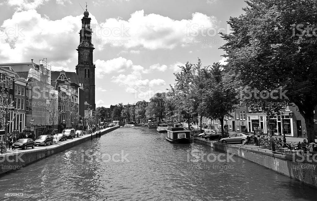 B&W Amsterdam stock photo