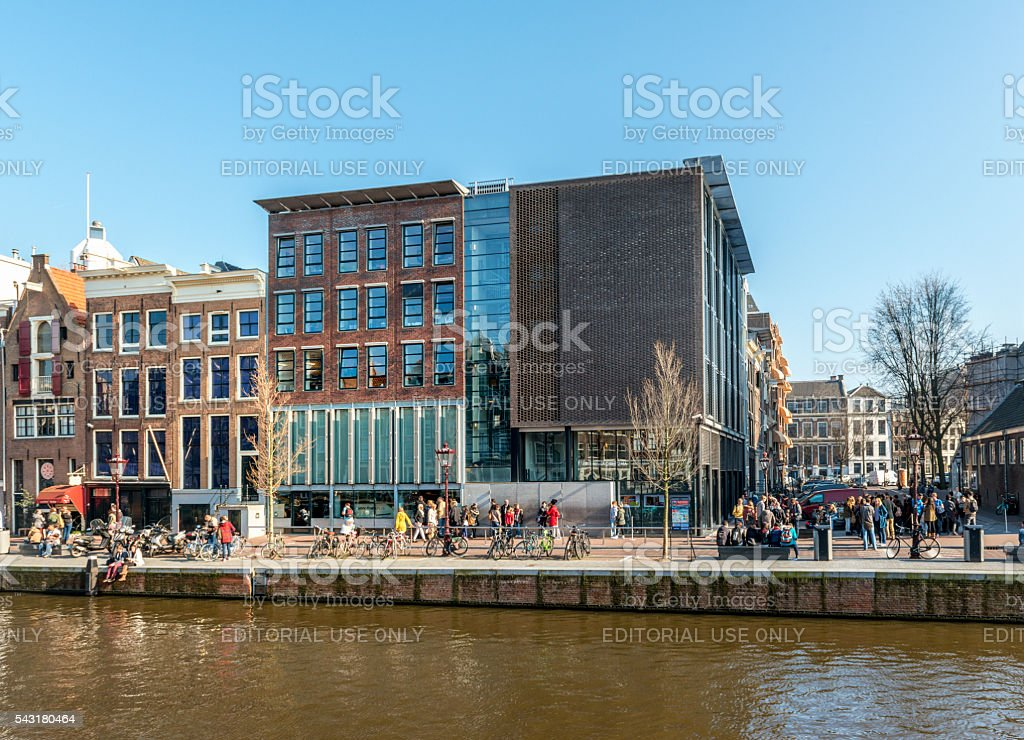 Amsterdam, Prinsengracht, Anne Frank House, North Holland, Netherlands stock photo