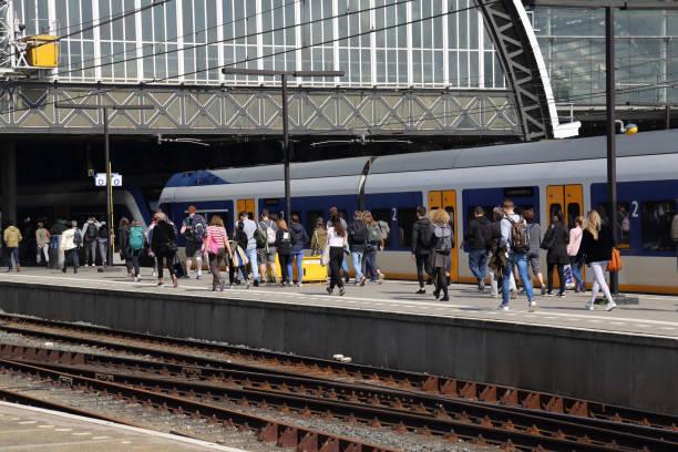 Bahnhof Amsterdam in Holland – Foto