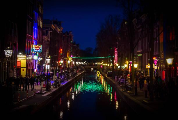 Amsterdam Red Light District bei Nacht – Foto
