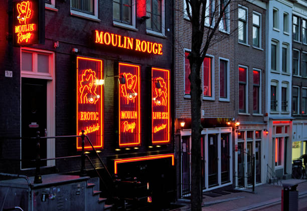 Amsterdam Red light district stock photo