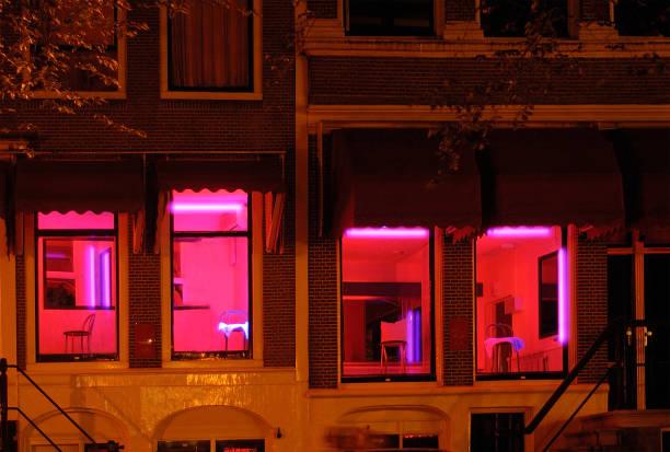 amsterdam-wallen - stadsdeel stockfoto's en -beelden