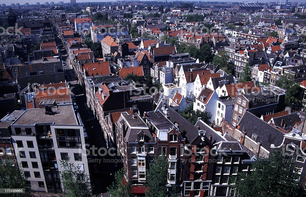 Amsterdam rooftops royalty-free stock photo