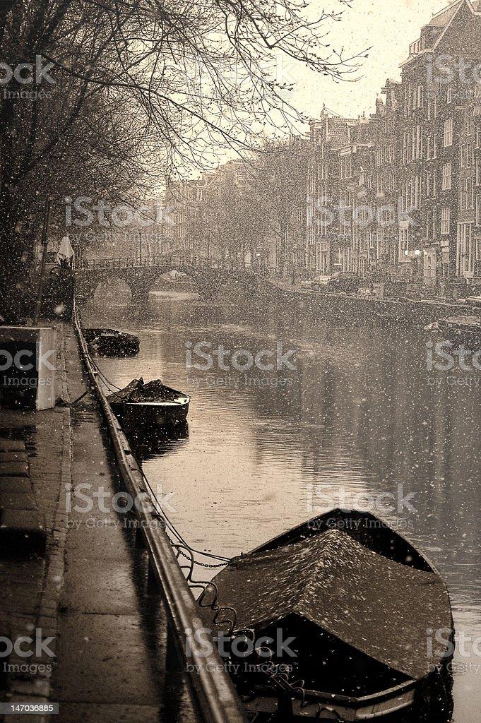 Amsterdam Sepia royalty-free stock photo