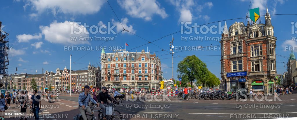 Amsterdam shopping street - foto stock