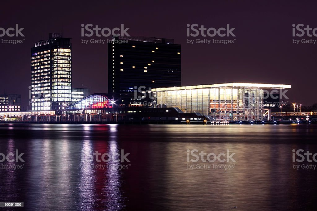 Amsterdam skyline at the IJ in Netherlands - Royalty-free Amsterdam Stock Photo