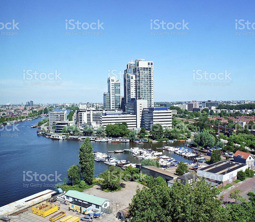 Amsterdam skyline royalty-free stock photo