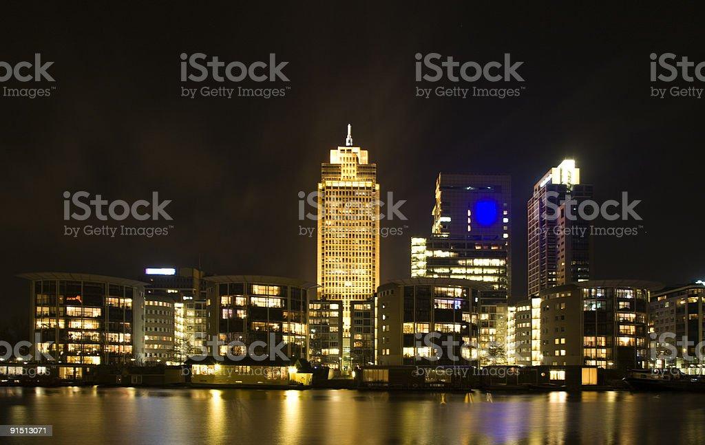 Amsterdam skyline stock photo