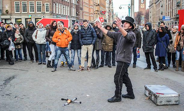 Amsterdam Square Street Performer - foto de stock