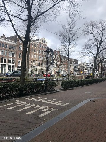 Street in Amsterdam with canal