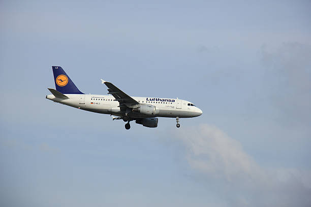 amsterdam, the netherlands  - april 1st 2016: d-ails lufthansa - aviation and environment summit stock photos and pictures